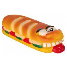 Hračka pre psa - Pískajúca vinylová bageta 18 cm