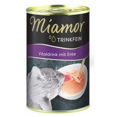 Miamor Vitaldrink nápoj pre mačky, kačka 135 ml