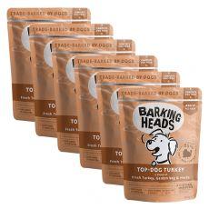 BARKING HEADS Top Dog Turkey GRAIN FREE 6 x 300 g