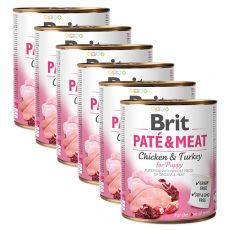 Konzerva Brit Paté & Meat PUPPY 6 x 800 g