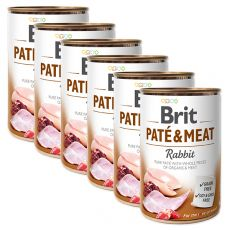 Konzerva Brit Paté & Meat Rabbit 6 x 400 g