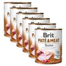Konzerva Brit Paté & Meat Rabbit 6 x 800 g