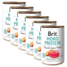 Konzerva Brit Mono Protein Tuna & Sweet Potato 6 x400 g