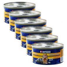 Konzerva ONTARIO Adult pre psa, kuracie kúsky + žalúdky, 6 x 200g