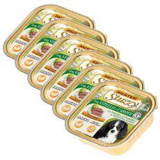 Vanička Mister STUZZY Dog - teľacie a mrkva, 6 x 150g