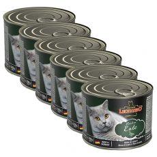 Konzerva pre mačky Leonardo, kačka 6 x 200 g