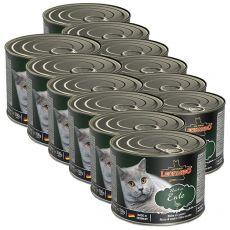 Konzerva pre mačky Leonardo, kačka 12 x 200 g