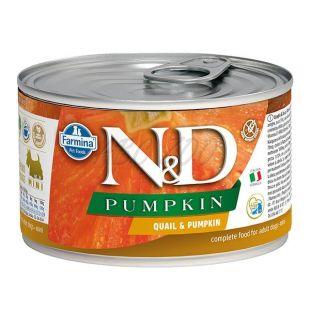 Farmina N&D dog Quail & Pumpkin konzerva 140 g