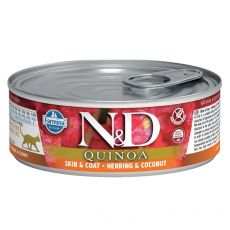 Farmina N&D cat Quinoa Herring & Coconut konzerva 80 g