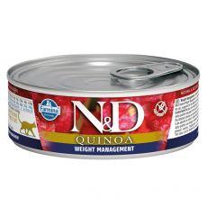 Farmina N&D cat Quinoa Weight Management konzerva 80 g