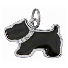 Adresár pre psa - kovový psík, 35 x 25 mm