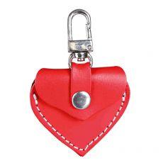Adresár pre psa - kožené srdce, červené