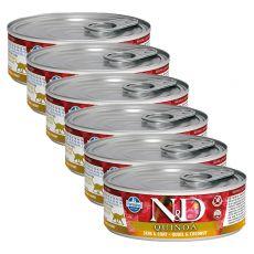 Farmina N&D cat Quinoa Quail & Coconut konzerva 6 x 80 g, 5+1 GRATIS