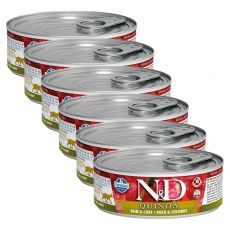 Farmina N&D cat Quinoa Duck & Coconut konzerva 6 x 80 g