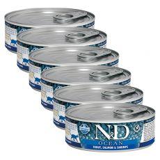 Farmina N&D cat Trout, Salmon & Shrimps konzerva 6 x 80 g