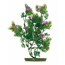 Plastová rastlinka do akvária 28 cm, fialové kvety