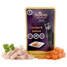Kapsička NUEVO CAT Adult Chicken & Salmon 85 g