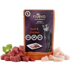 Kapsička NUEVO CAT Adult Beef & Chicken 85 g