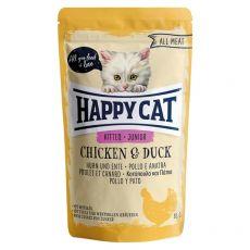 Kapsička Happy Cat ALL MEAT Kitten Junior Chicken & Duck 85 g
