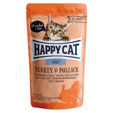 Kapsička Happy Cat ALL MEAT Adult Turkey & Pollack 85 g