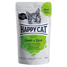 Kapsička Happy Cat MEAT IN SAUCE Adult Lamb & Liver 85 g