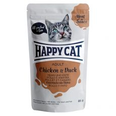 Kapsička Happy Cat MEAT IN SAUCE Adult Chicken & Duck 85 g