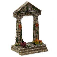 Dekorácia do akvária Zrúcanina chrámu 9,5 x 7 x 15 cm
