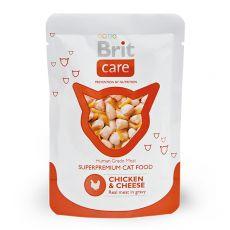 Kapsička Brit Care Cat Chicken & Cheese 80 g