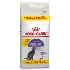 Royal Canin Sterilised granule pre kastrované mačky 10 kg + 2 kg GRATIS