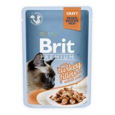 Kapsička BRIT Premium Cat Delicate Fillets in Gravy with Turkey 85 g