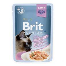 Kapsička BRIT Premium Cat Delicate Fillets in Gravy with Salmon for Sterilised 85 g