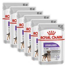 Royal Canin Sterilised Dog Loaf kapsička s paštétou pre kastrované psy 6 x 85 g, 5+1 GRATIS