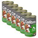 Konzerva Calibra Dog Adult jahňa, hovädzie a kura v želé, 6 x 1240g