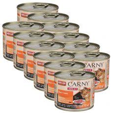 Krmivo CARNY ADULT hovädzie + kura 12 x 200 g