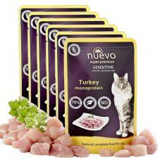 Kapsička NUEVO CAT Sensitive Turkey Monoprotein 6 x 85 g