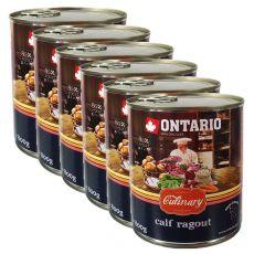 Konzerva ONTARIO Culinary Calf Ragout with Duck 6 x 800 g