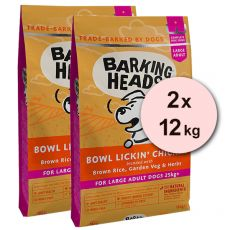 BARKING HEADS Bowl Lickin' Chicken ADULT LARGE BREED 2 x 12 kg