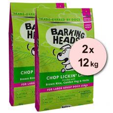 BARKING HEADS Chop Lickin' Lamb ADULT LARGE BREED 2 x 12 kg