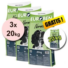 EUROBEN 25-10 Normal, 3 x 20 kg + 20 kg GRATIS
