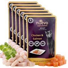 Kapsička NUEVO CAT Adult Chicken & Salmon 6 x 85 g