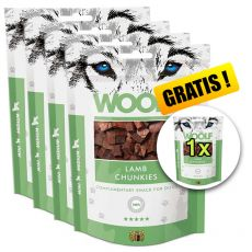 WOOLF Lamb Chunkies 5 x 100g, 4+1 GRATIS
