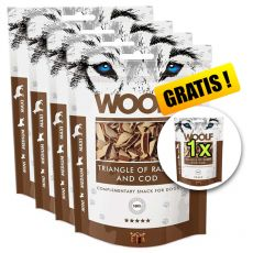 WOOLF Triangle of Rabbit and Cod 5 x 100g, 4+1 GRATIS