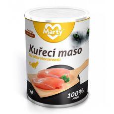 Konzerva pre mačky MARTY Premium Chicken 400 g