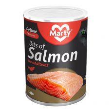 Konzerva pre mačky MARTY Deluxe Bits of Salmon 400 g