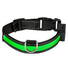 Svietiaci USB obojok EYENIMAL, zelený S