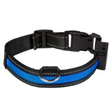 Svietiaci USB obojok EYENIMAL, modrý M