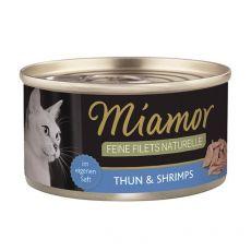 Konzerva Miamor Feine Filets tuniak a krevety v omáčke 80 g
