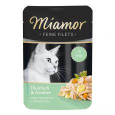 Kapsička Miamor Feine Filets tuniak a zelenina v želé 100 g