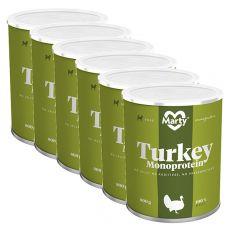 Konzerva MARTY Turkey Monoprotein 6 x 800 g