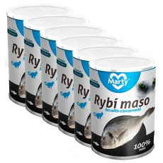 Konzerva pre mačky MARTY Premium Fish 6 x 400 g
